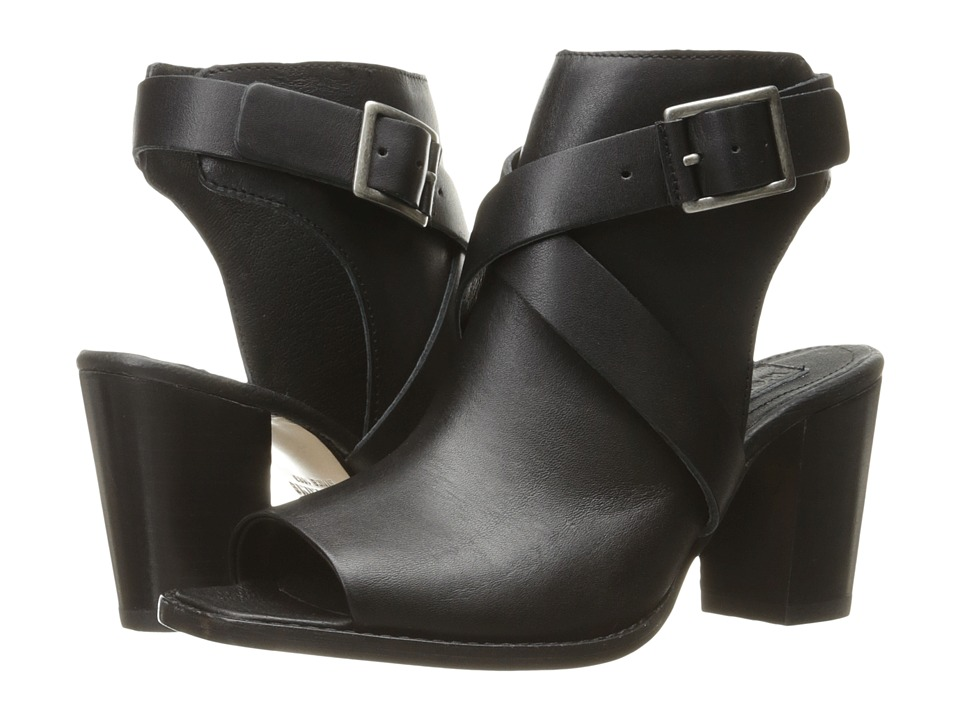 Wolverine - Piper Open Toe Boot (Black Leather) High Heels