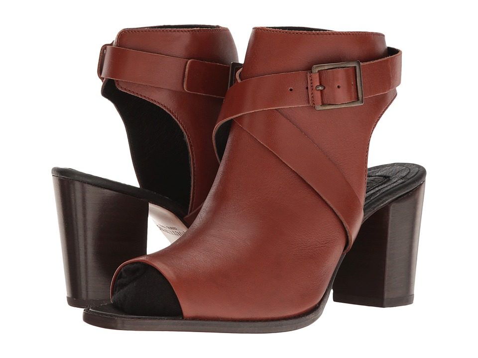 Wolverine Piper Open Toe Boot (Brown Leather) High Heels