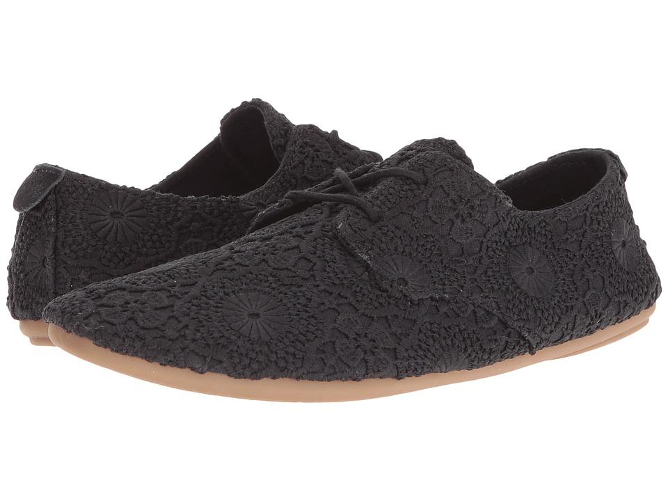 Sanuk - Bianca Crochet (Black/Black) Women's Lace up casual Shoes