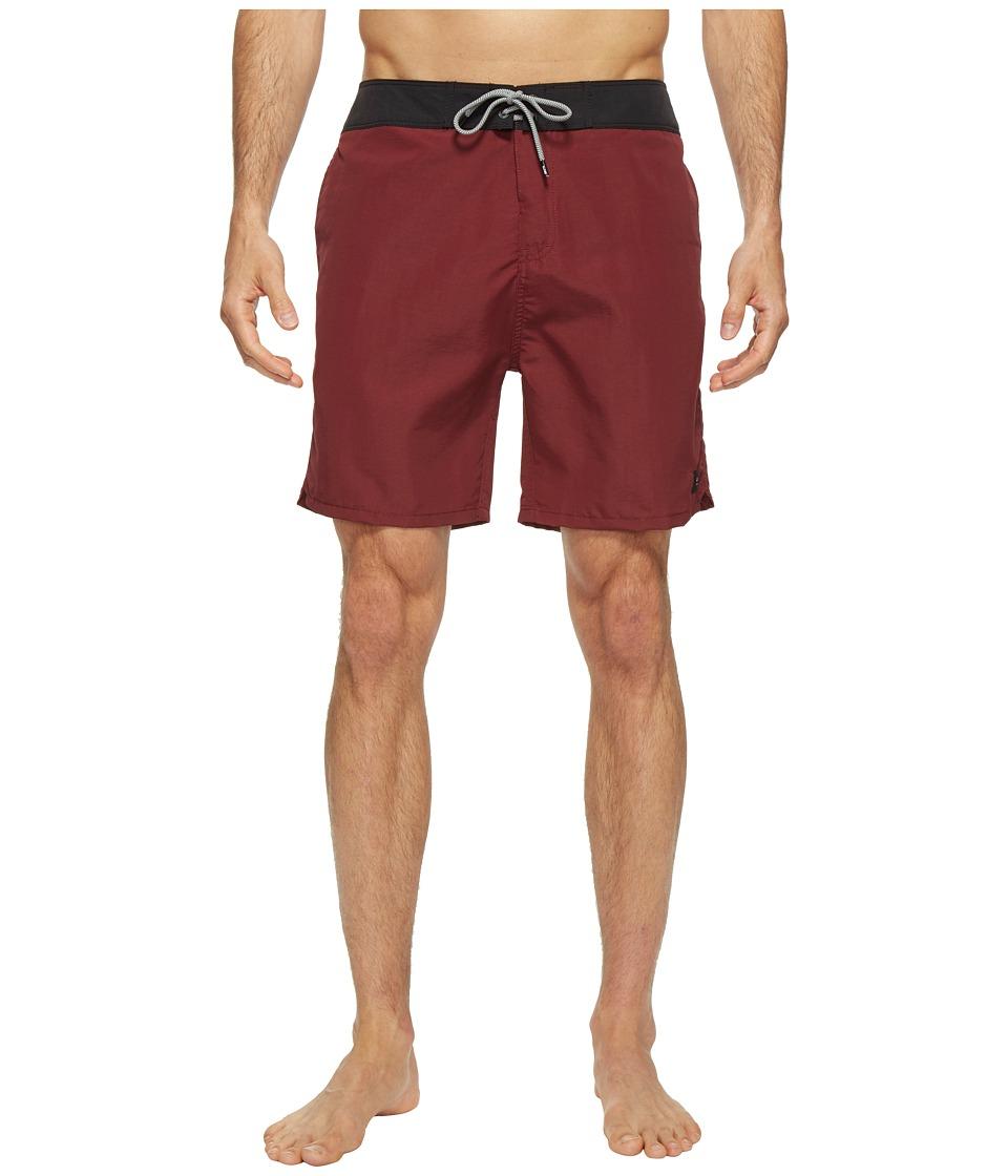 Globe - Dana 18 Boardshorts (Red) Men's Swimwear