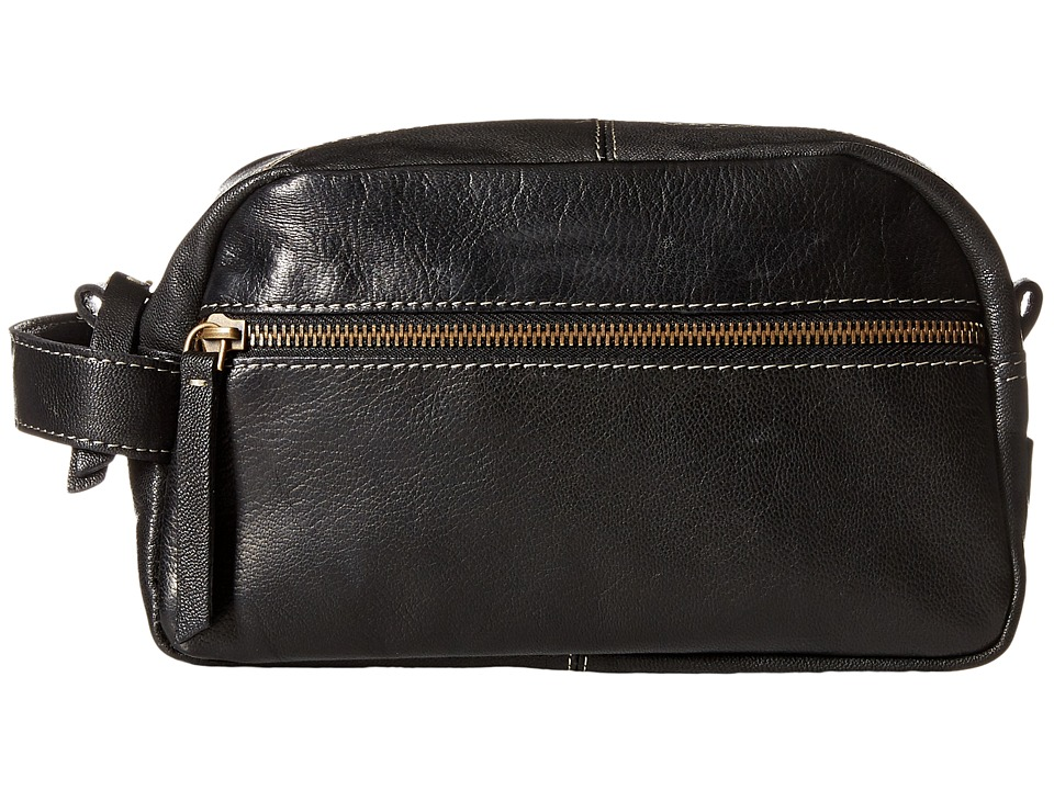 Timberland - Veg Wash Leather Travel Kit (Black) Wallet