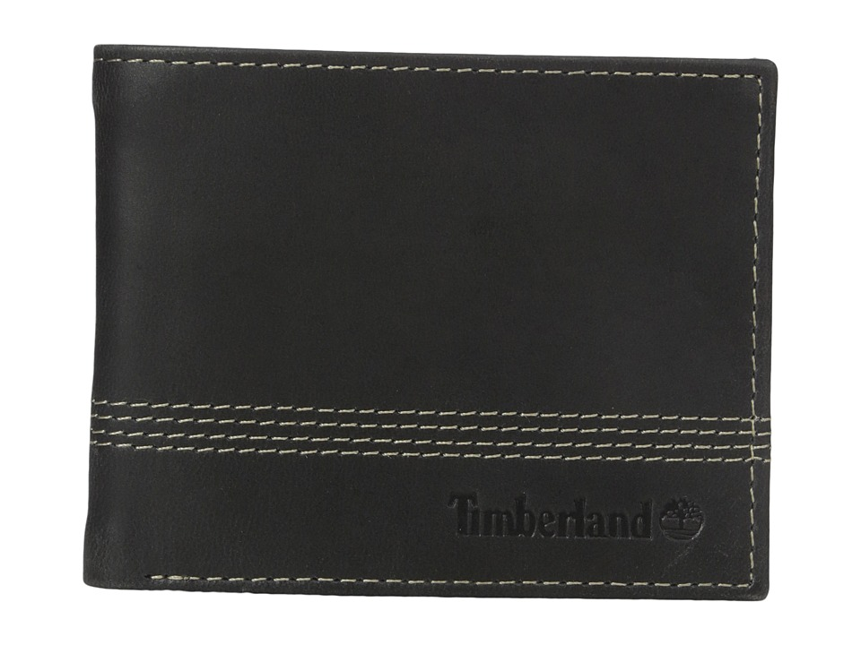 Timberland - Quad Billfold with Matching Fob (Black) Bill-fold Wallet