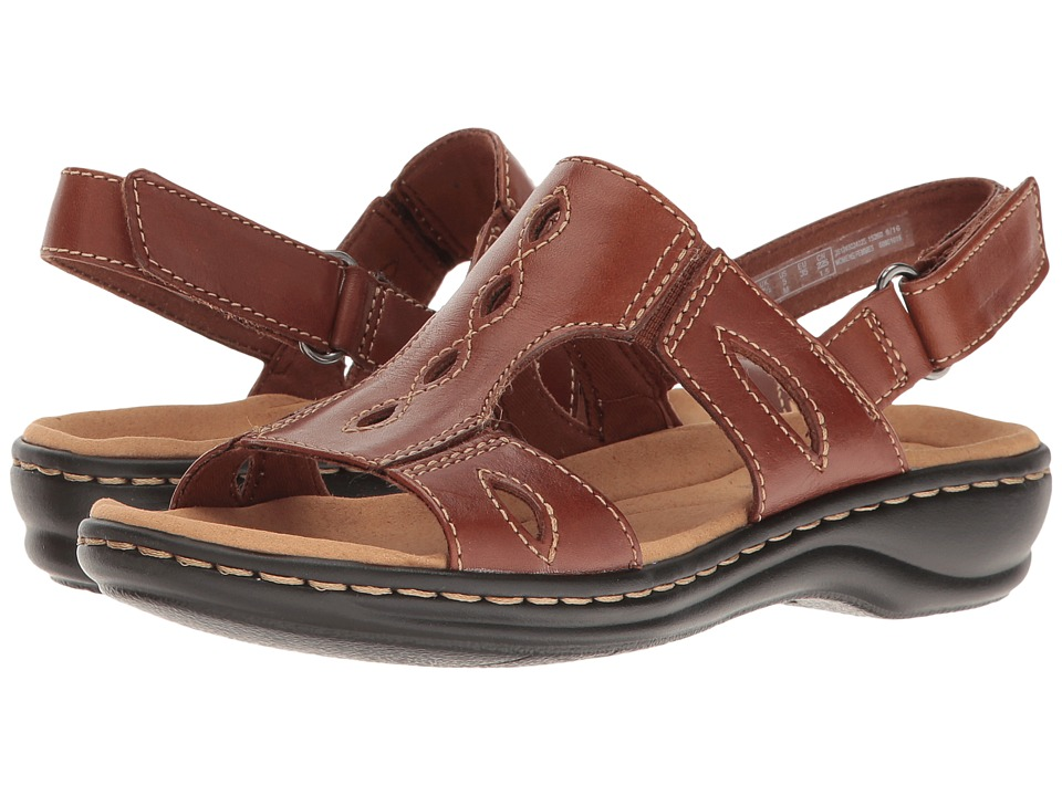 Clarks - Leisa Lakelyn (Tan Leather) Women's Shoes