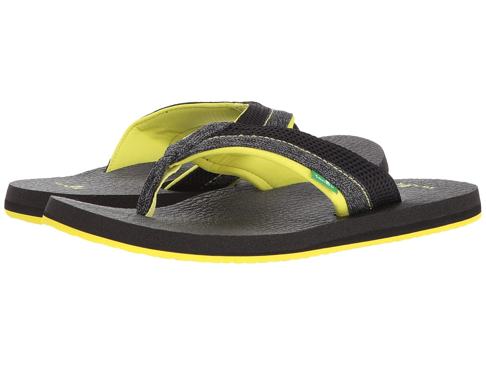 Sanuk - Beer Cozy 2 Mesh (Black/Lightning) Men's Sandals