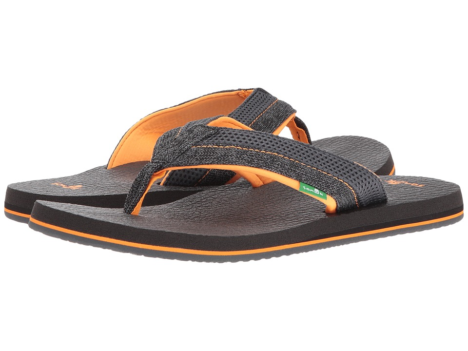 Sanuk - Beer Cozy 2 Mesh (Black/Charcoal/Orange) Men's Sandals