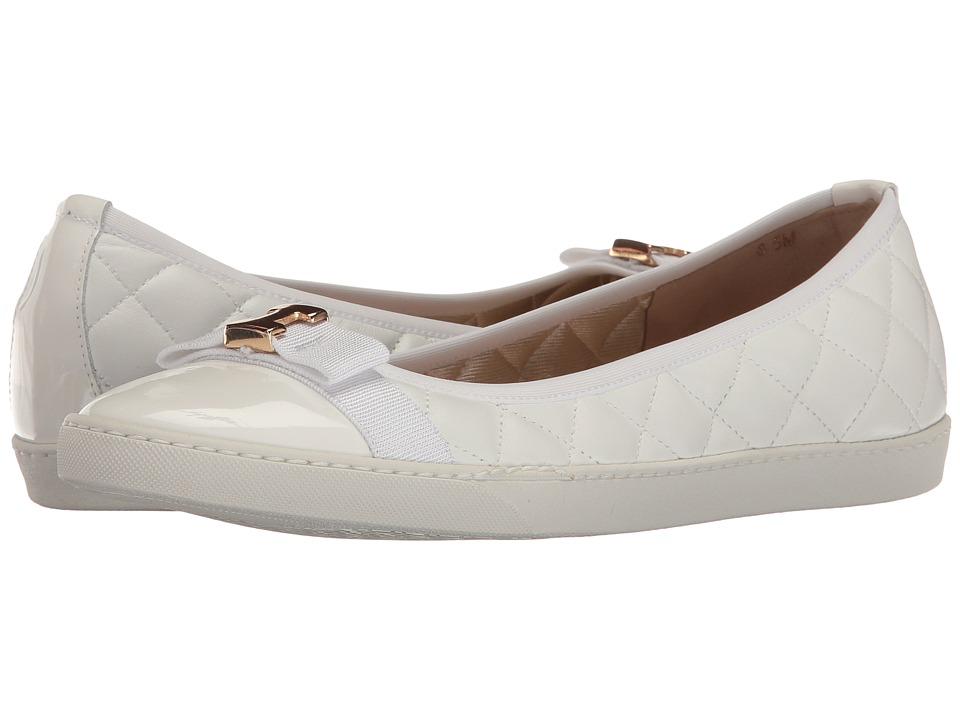 Sesto Meucci Florel (White Nappa/White Patent/Matching Grosgrain) Women