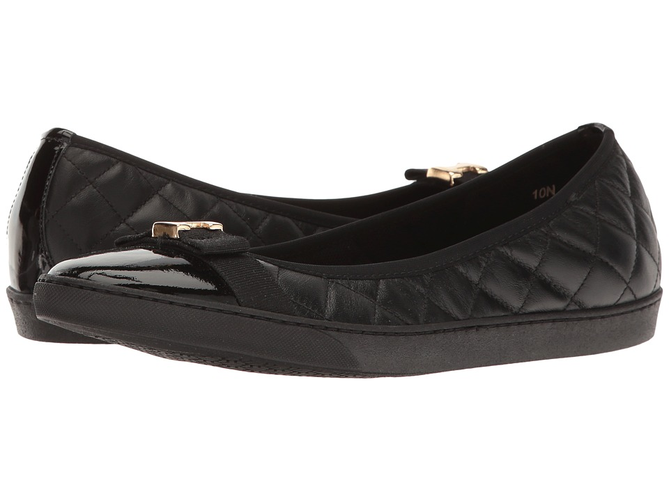Sesto Meucci - Florel (Black Nappa/Black Patent/Black Grosgrain) Women's Slip on Shoes
