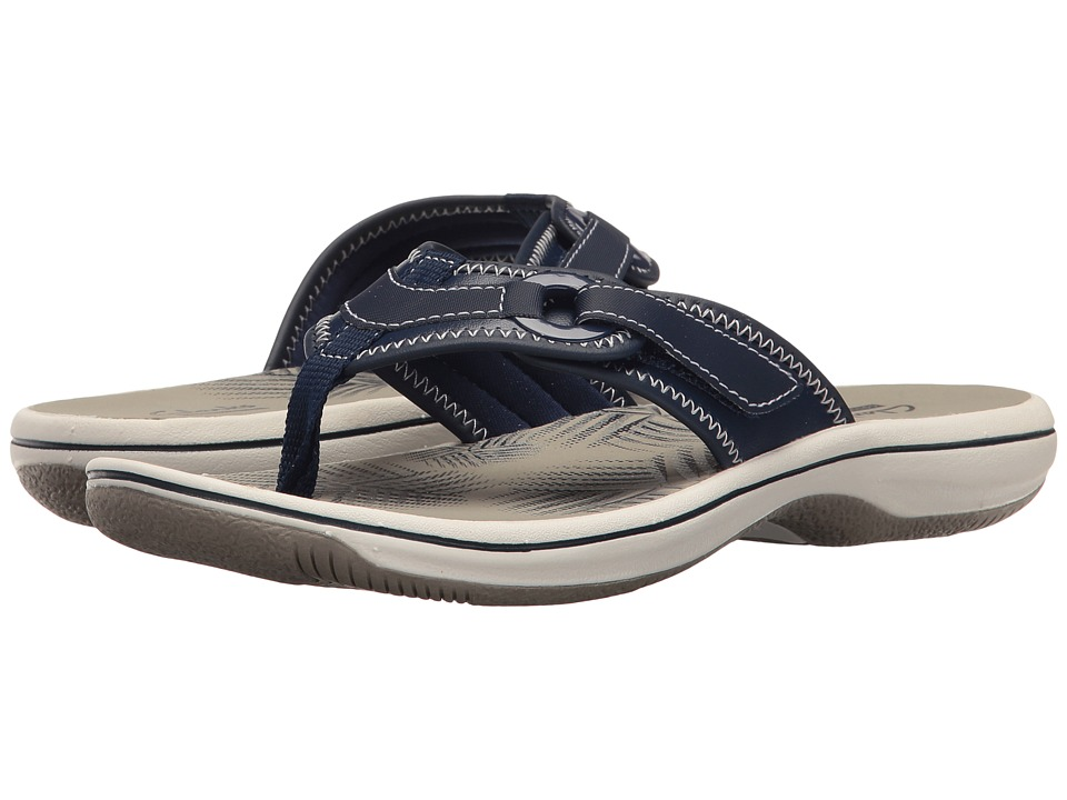 Clarks Breeze Mila (Navy Synthetic) Women