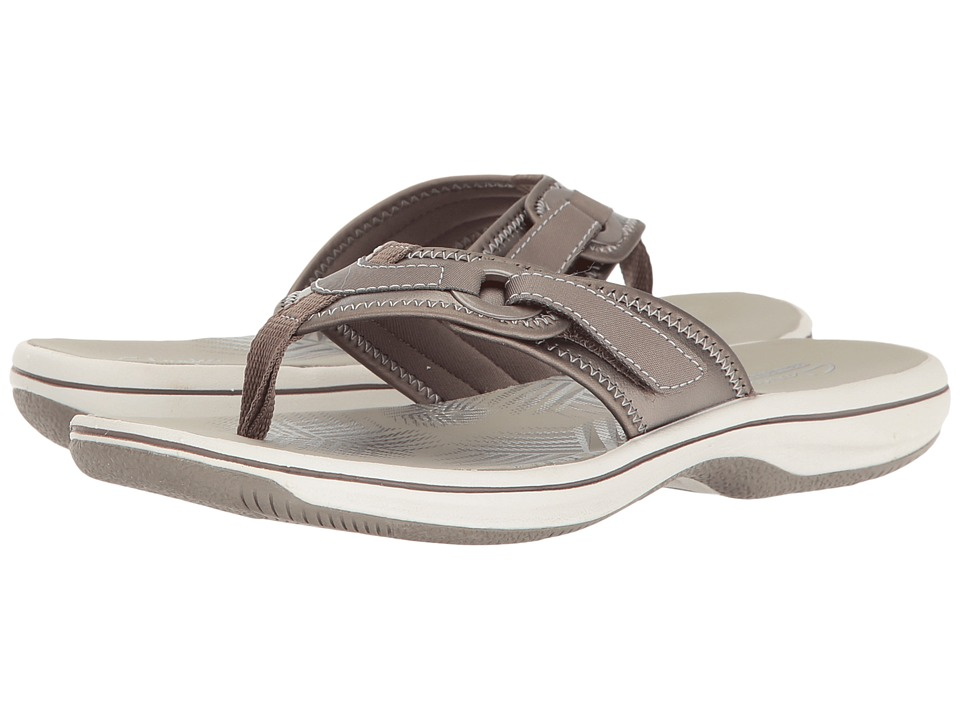 Clarks Breeze Mila (Pewter Synthetic) Women