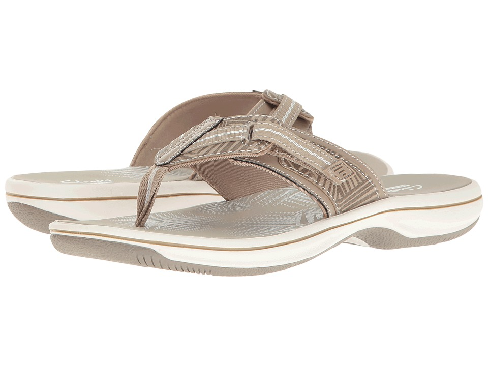 Clarks - Brinkley Jazz (Sand Synthetic/Greystone) Women's Shoes