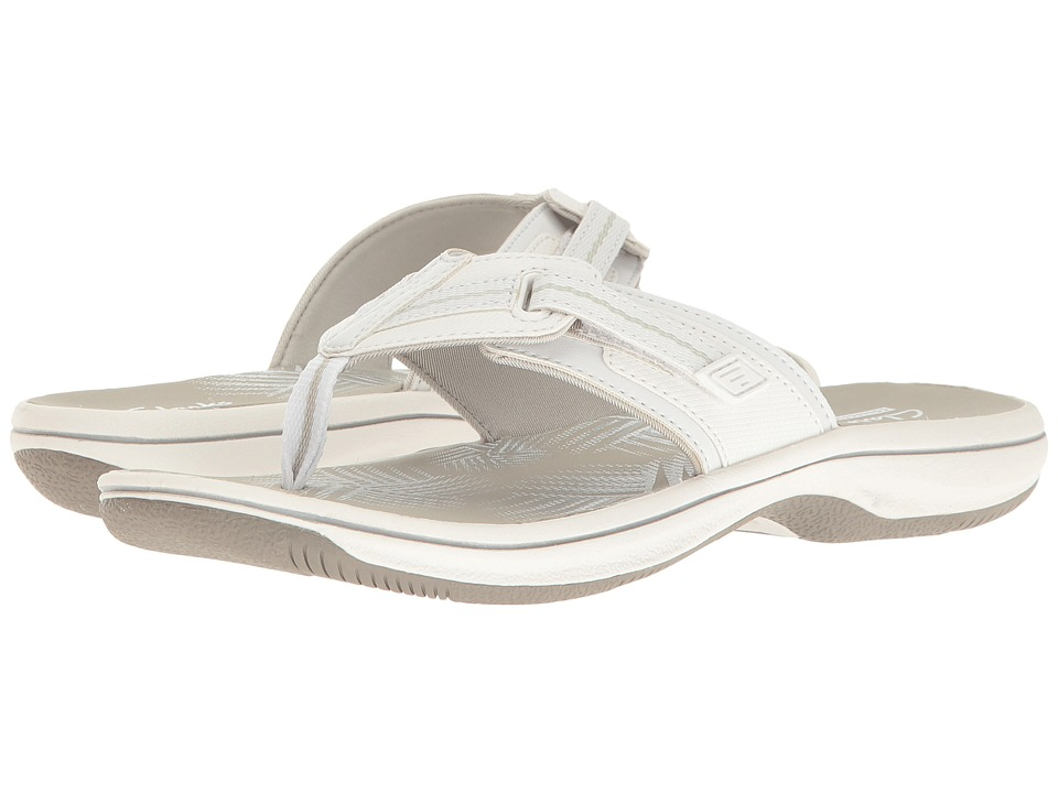 Clarks - Brinkley Jazz (White Synthetic) Women's Shoes