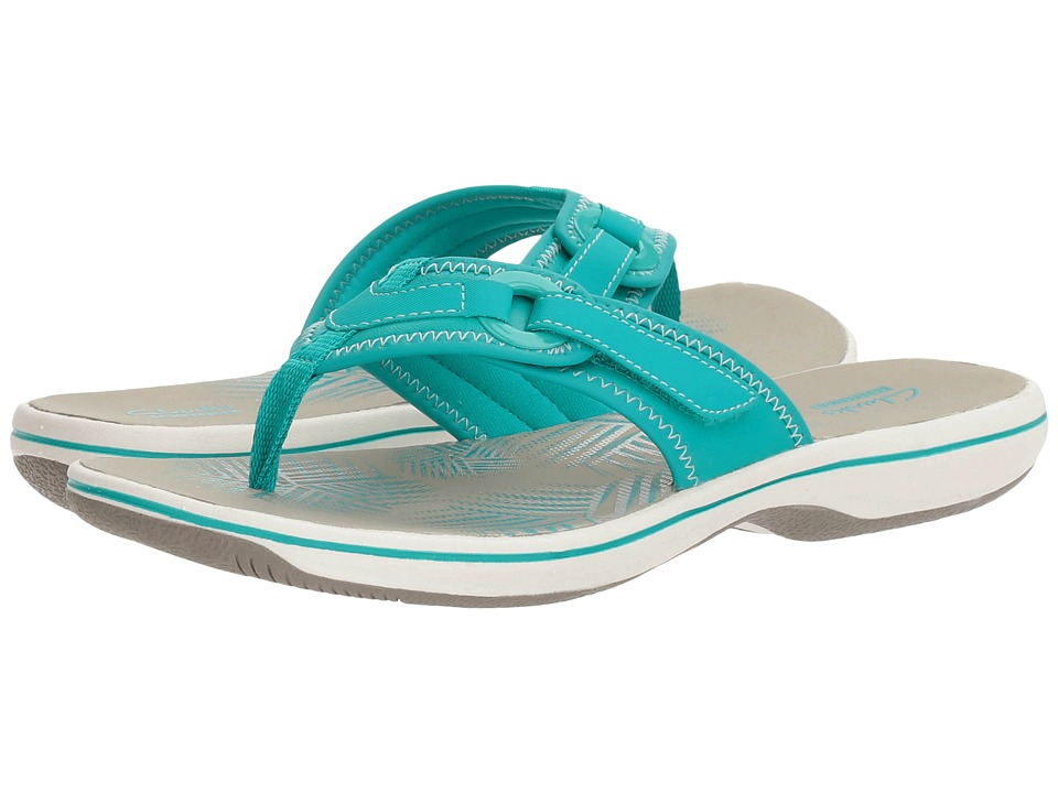 Clarks Breeze Mila (Turquoise Synthetic) Women
