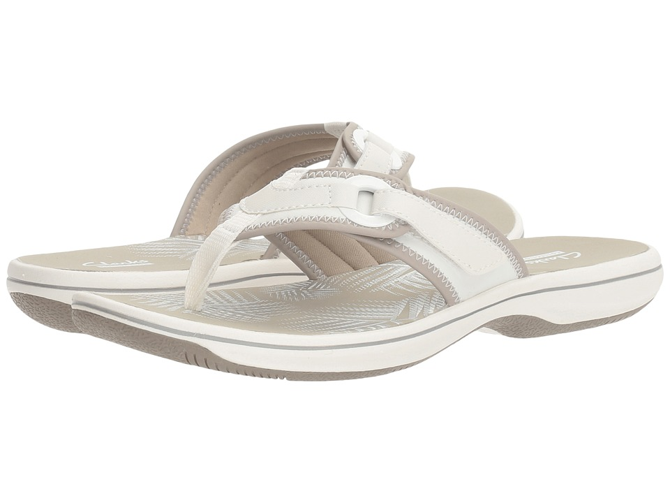 Clarks Breeze Mila (White Synthetic) Women