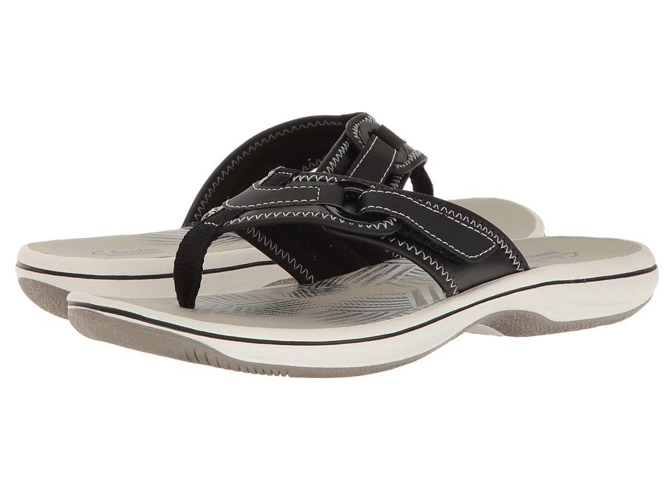 Clarks - Breeze Mila (Black Synthetic) Women's Shoes