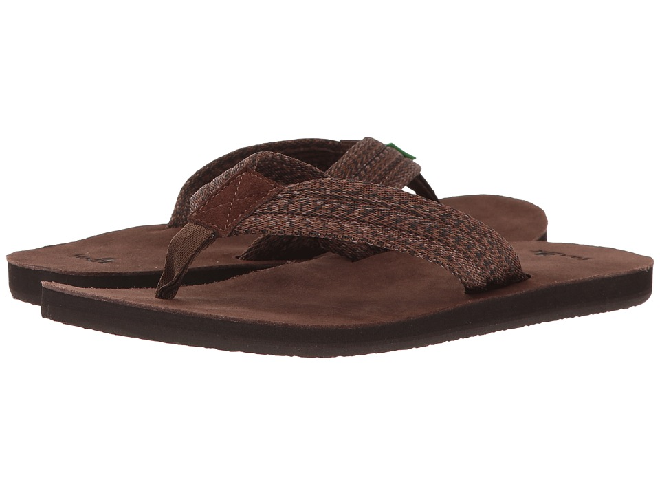 Sanuk - Fraid Webbing (Dark Brown) Men's Sandals