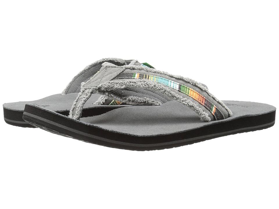Sanuk - Fraid So (Charcoal Multi) Men's Toe Open Shoes