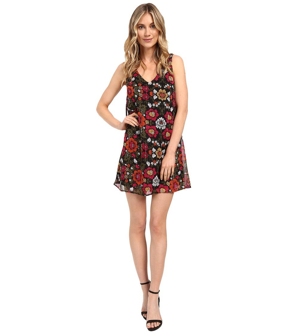 Brigitte Bailey - Elin Sleeveless Floral Dress (Black/Pink) Women's Dress