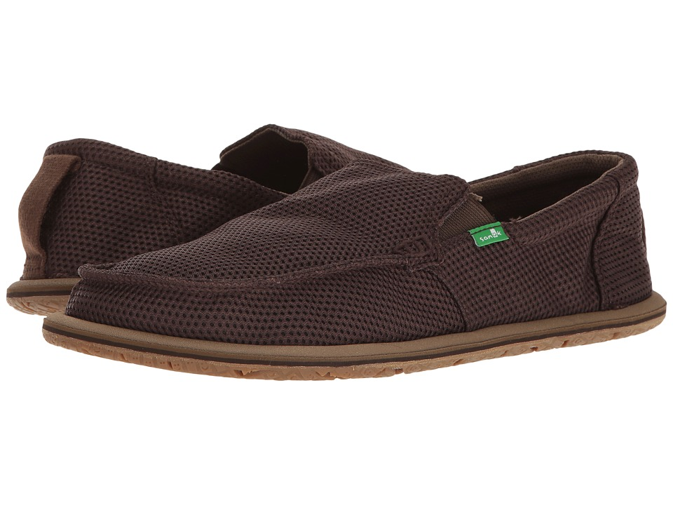 Sanuk - Trailgater Mesh (Brown Mesh) Men's Slip on Shoes
