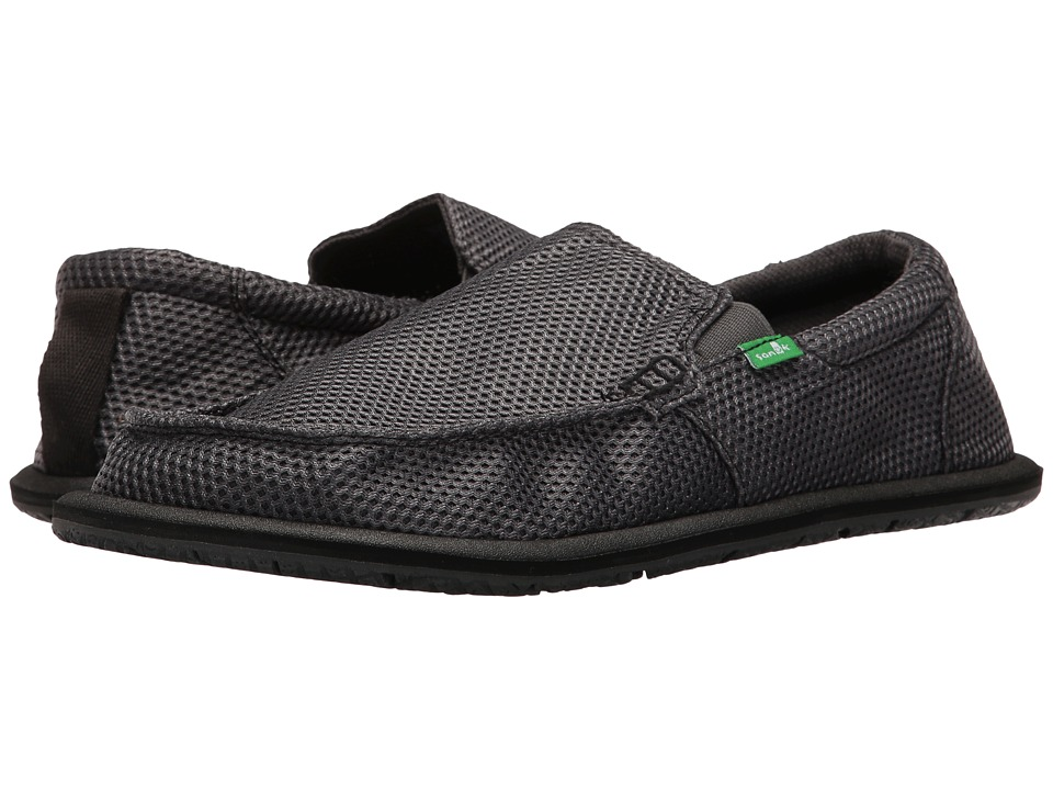 Sanuk - Trailgater Mesh (Charcoal Mesh) Men's Slip on Shoes