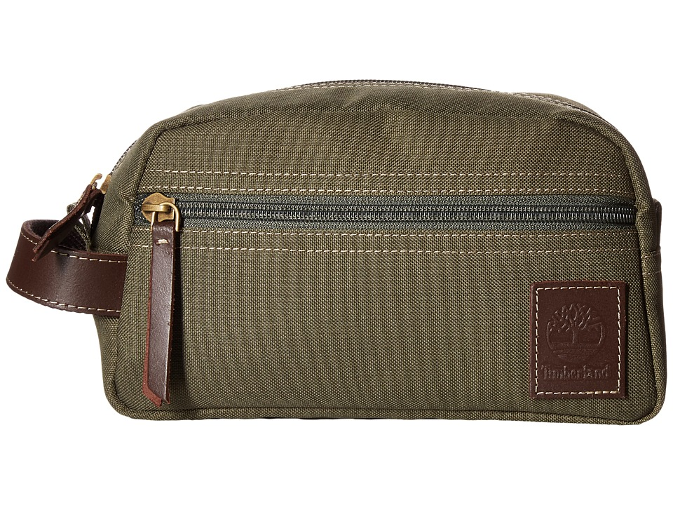 Timberland - Canvas Travel Kit (Olive 1) Travel Pouch