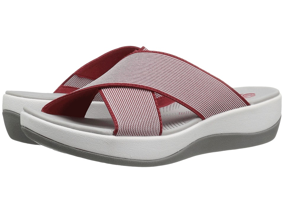 Clarks Arla Elin (Red/White Stripe) Women