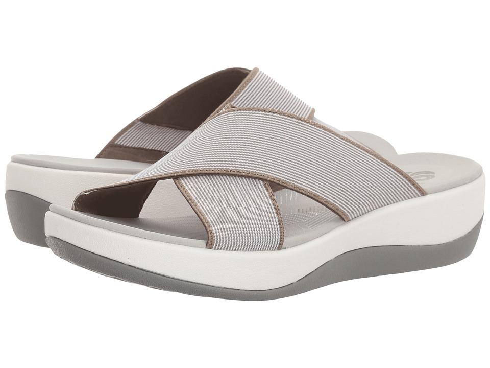 Clarks - Arla Elin (Red/White Stripe) Women's Shoes