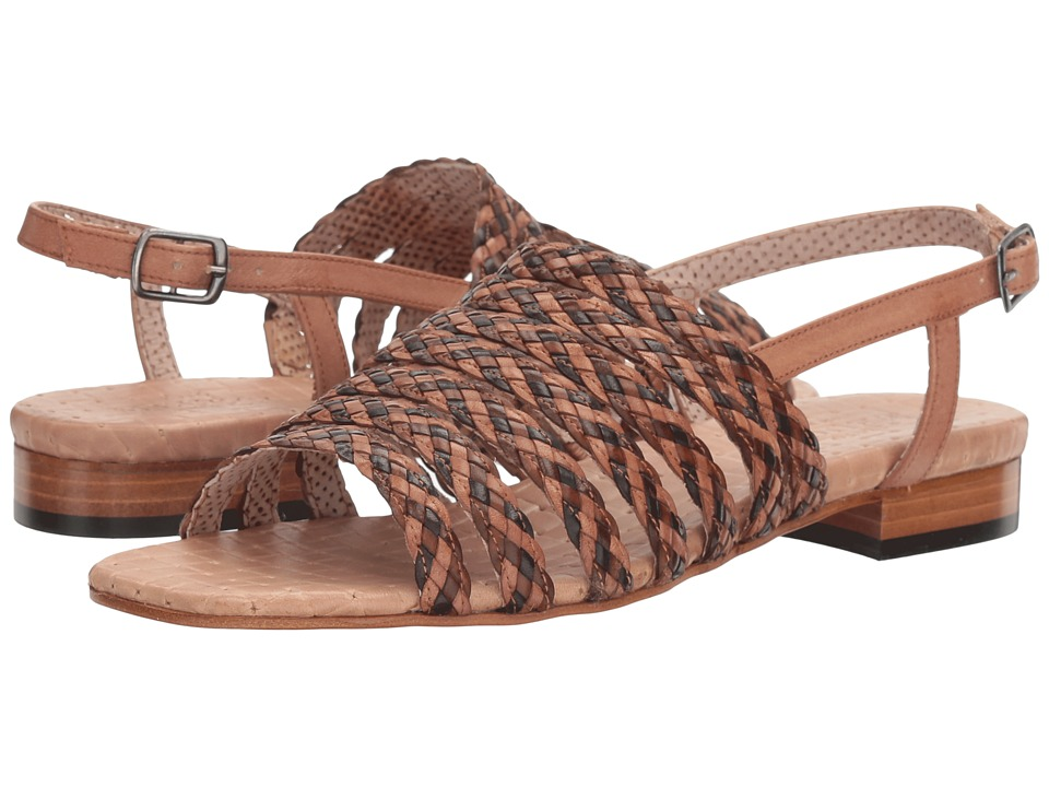 Sesto Meucci Geppy (Natural Stained Calf/Beige Multi Stain Calf) Women