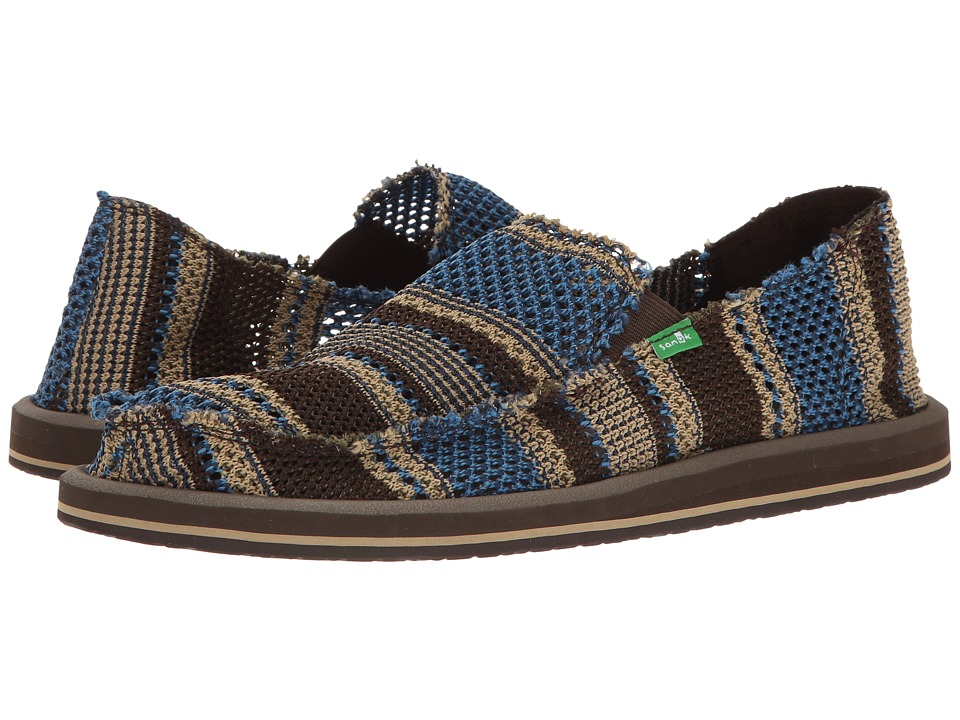 Sanuk - Yew-Knit (Blue) Men's Slip on Shoes