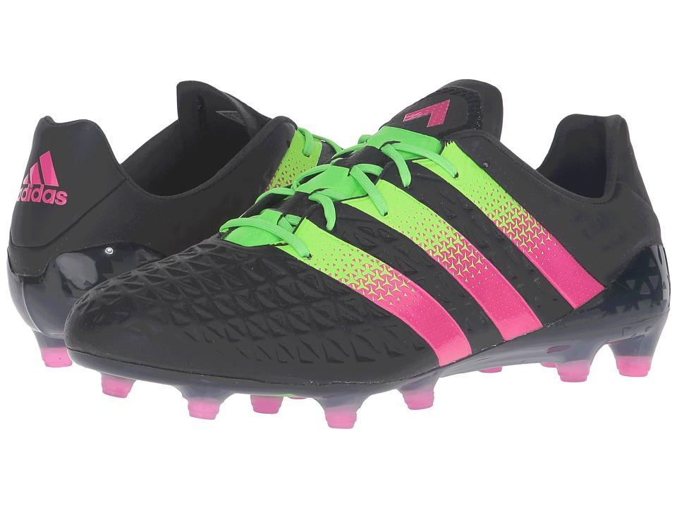 adidas - ACE 16.1 FG (Black/Shock Green/Shock Pink) Men's Shoes