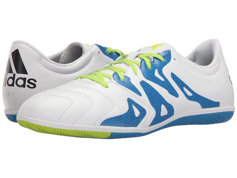 adidas - X 15.3 in Leather (White/Solar Slime/Black) Men's Shoes