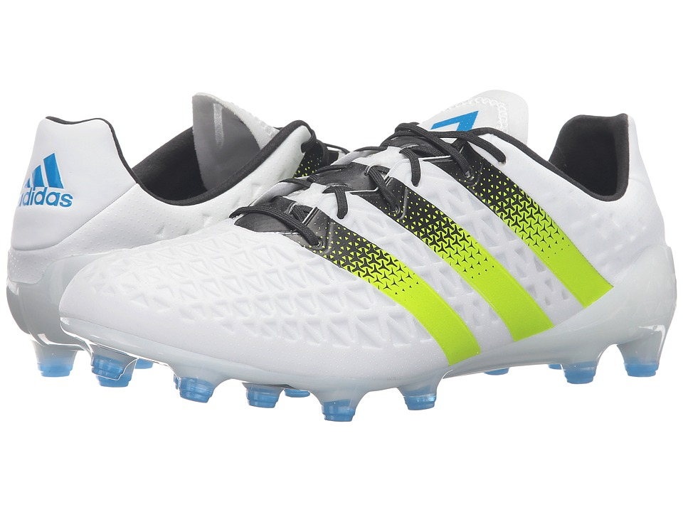 adidas ACE 16.1 FG (White/Solar Slime/Shock Blue) Men