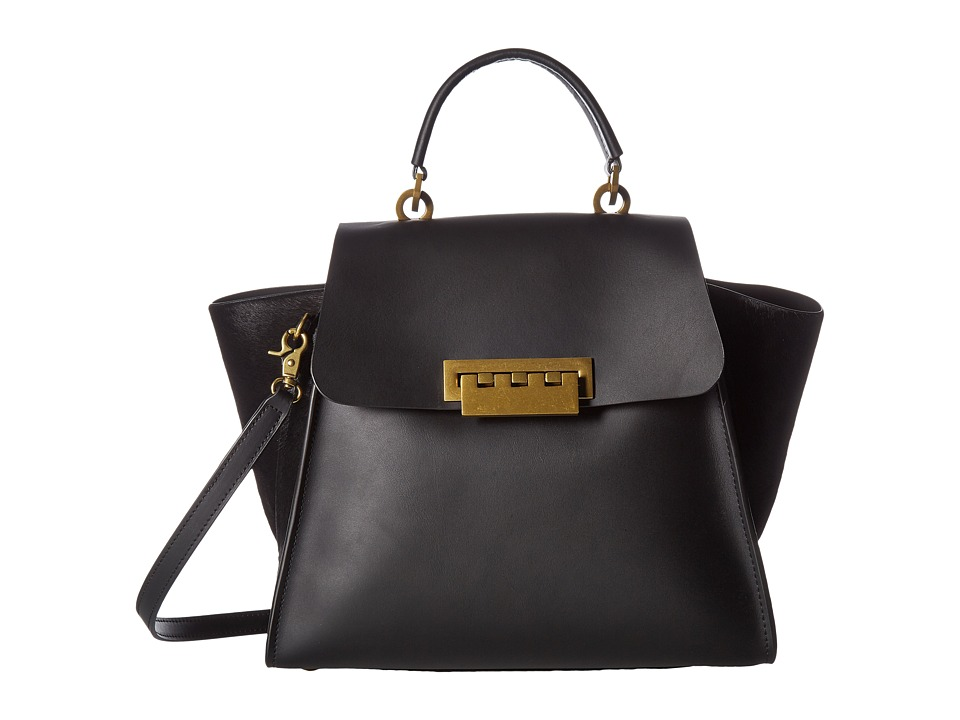 ZAC Zac Posen - Eartha Iconic Top-Handle (Black) Satchel Handbags