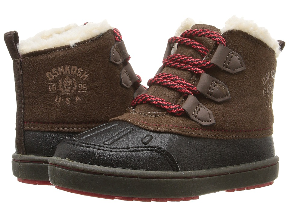 OshKosh - Harrison (Toddler/Little Kid) (Black/Brown) Boys Shoes
