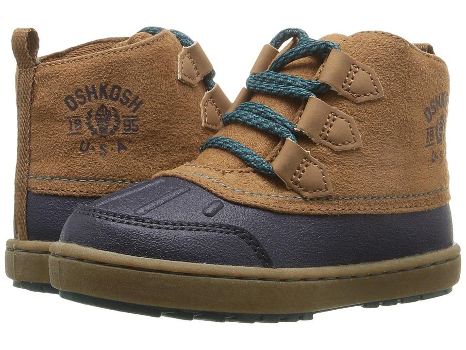 OshKosh - Harrison (Toddler/Little Kid) (Navy/Brown) Boys Shoes