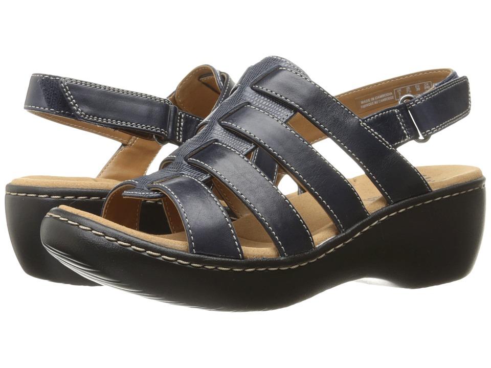 Clarks - Delana Maloren (Navy Leather) Women's Shoes