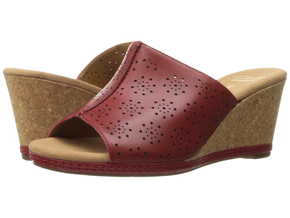 Clarks - Helio Corridor (Red Leather) Women's Shoes