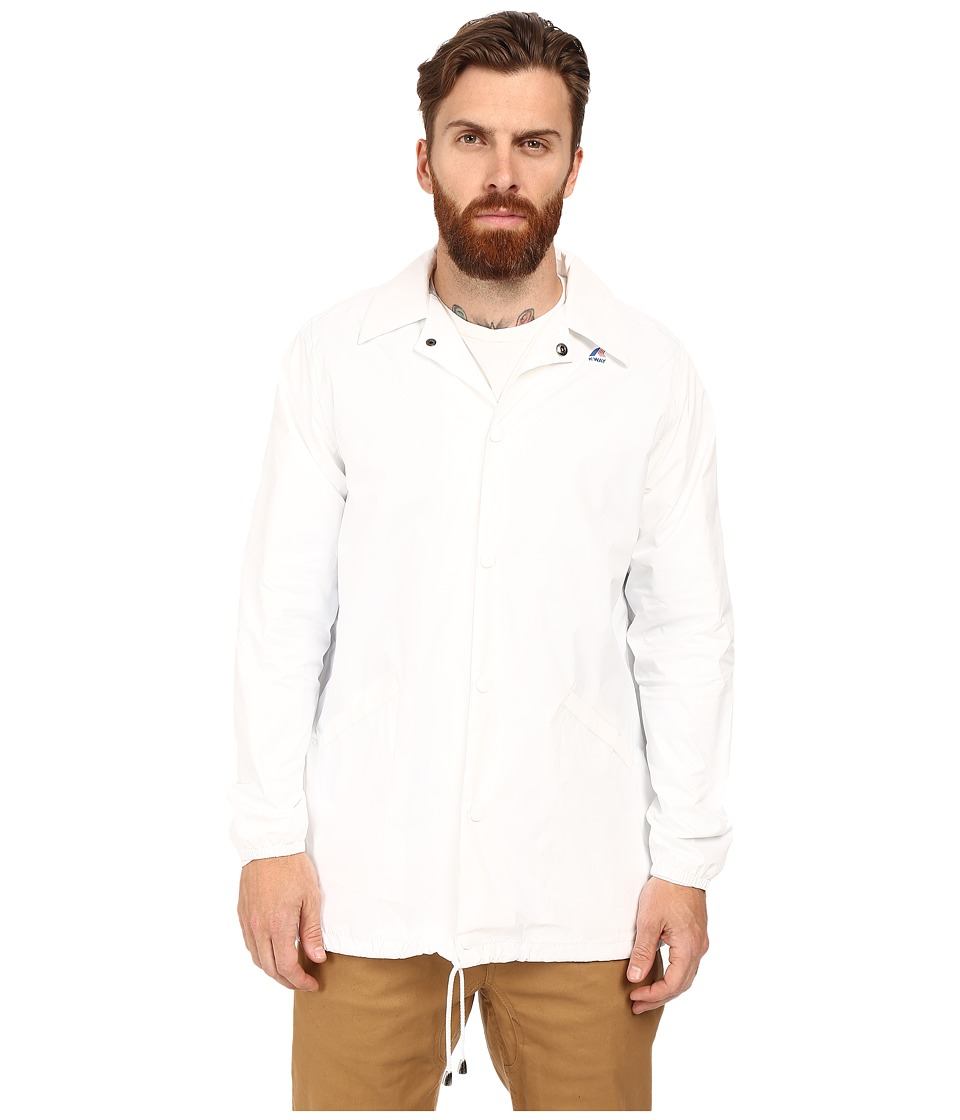 K-WAY - Raoul Coach Jacket (White) Men's Coat