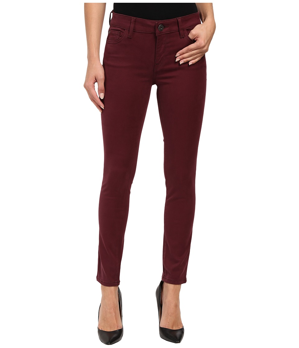 DL1961 Margaux Mid-Rise Ankle Skinny in Mulberry (Mulberry) Women