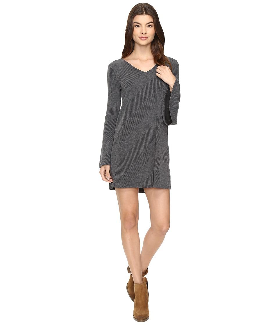 Brigitte Bailey Berne Bell Sleeve Sweater Dress (Charcoal) Women