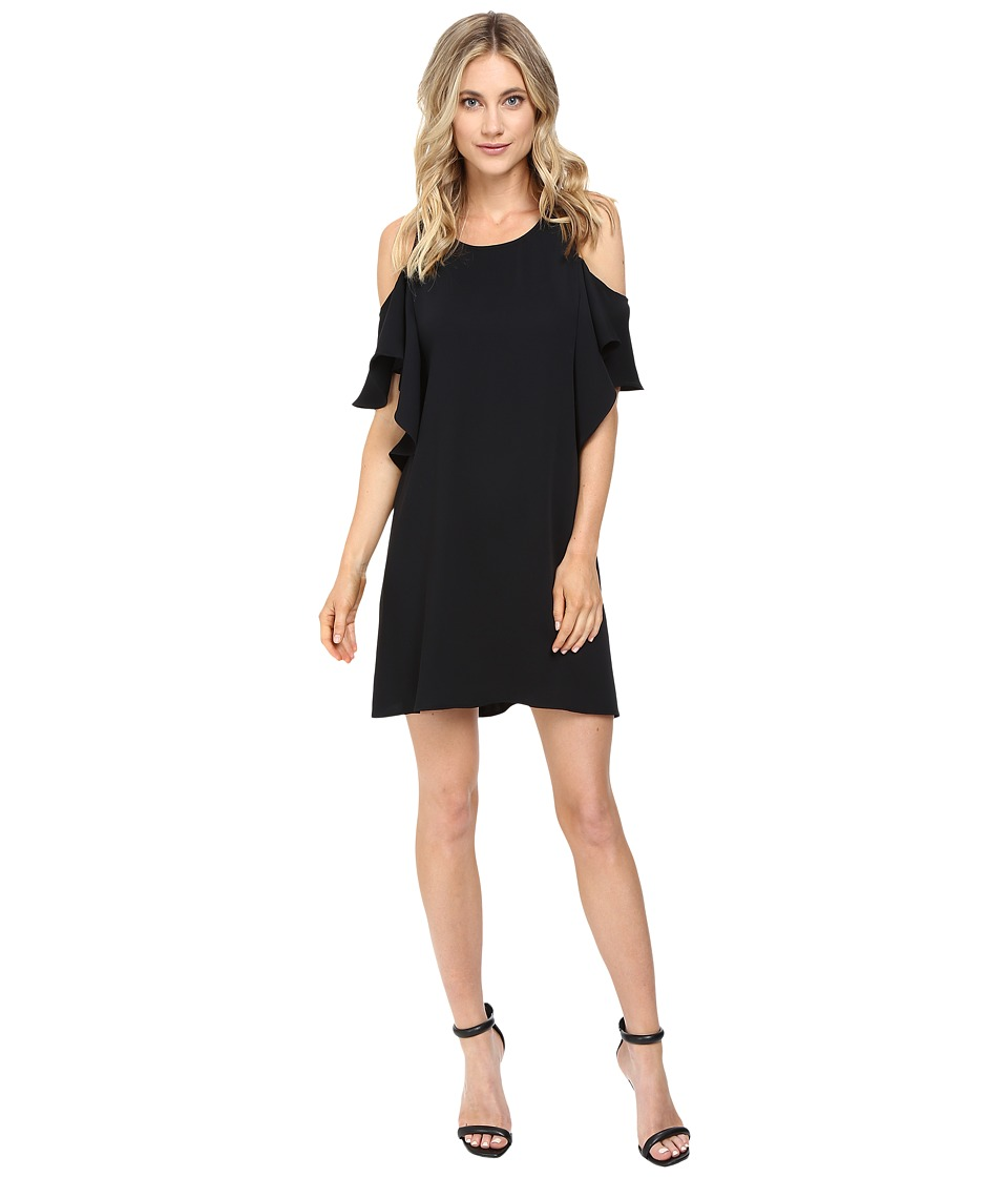 Brigitte Bailey - Naomi Cold Shoulder Ruffle Dress (Black) Women's Dress