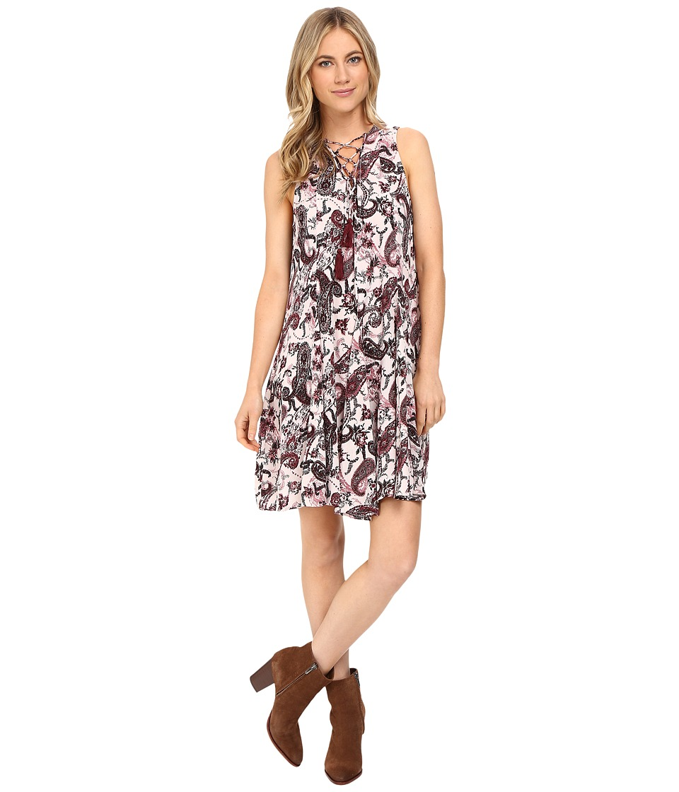 Brigitte Bailey - Jamila Printed Sleeveless Dress with Back Detail (Pink/Multi) Women's Dress