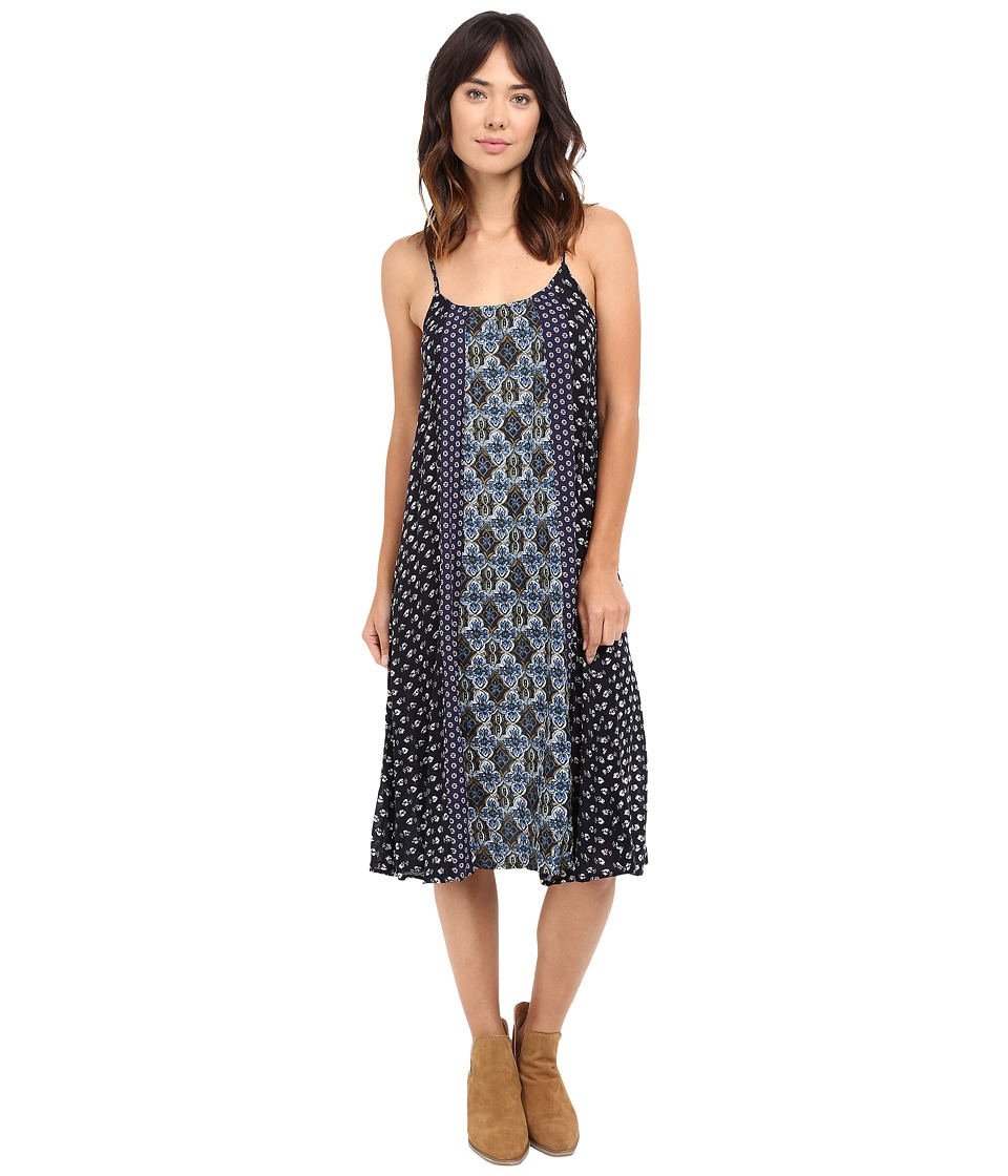 Brigitte Bailey - Andie Contrast Print Spaghetti Strap Dress (Navy/Multi) Women's Dress