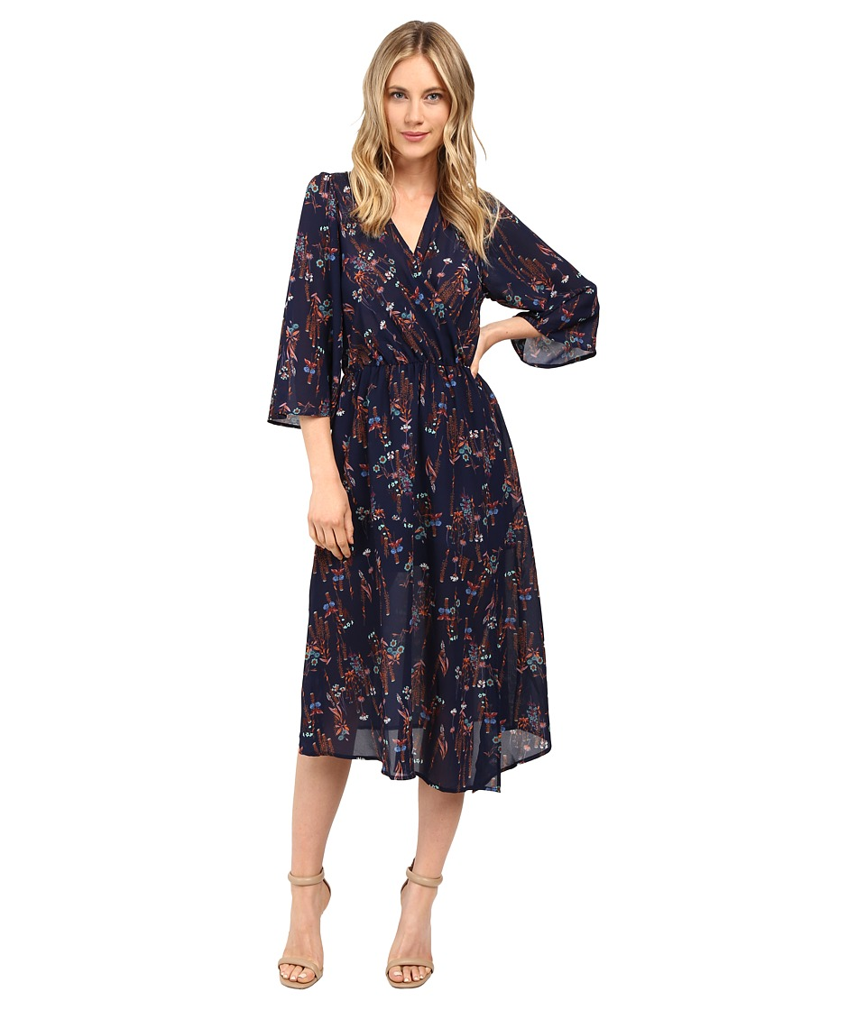 Brigitte Bailey - Avelina V-Neck Bell Sleeve Dress (Navy) Women's Dress