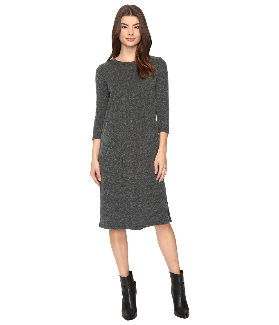 Culture Phit - Caelan Long Sleeve Ribbed Midi Dress (Hunter Green) Women's Dress