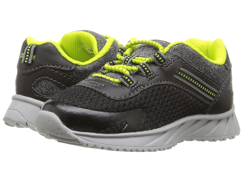 OshKosh - Surge-B (Toddler/Little Kid) (Black/Lime) Boys Shoes