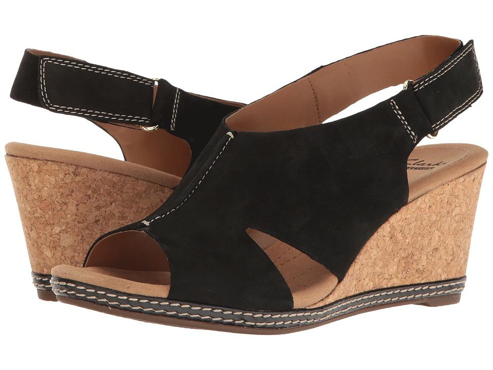 Clarks - Helio Float 4 (Black Nubuck) Women's Shoes