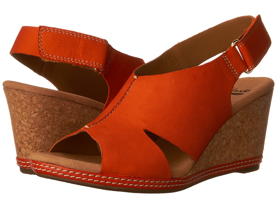 Clarks - Helio Float 4 (Papaya Orange) Women's Shoes