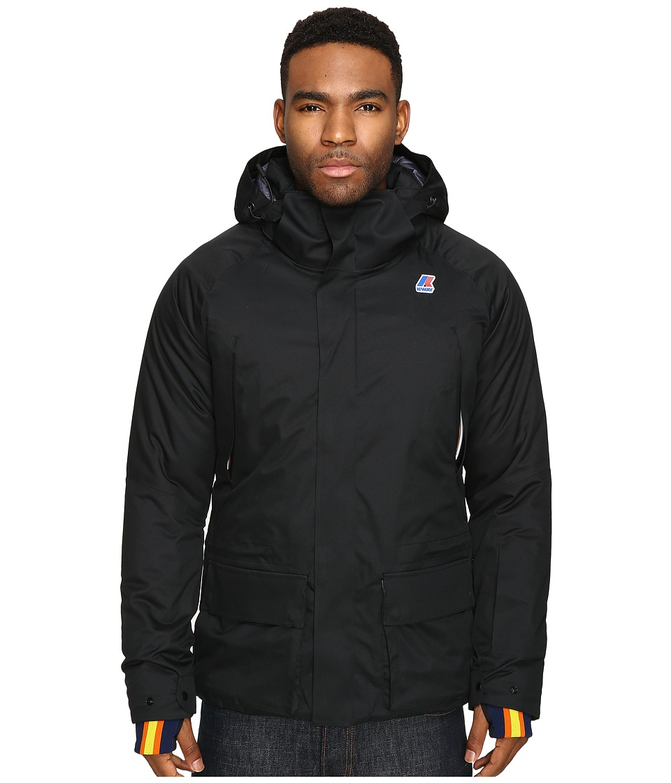 K-WAY - Gastone Micro Twill Jacket (Black) Men's Coat