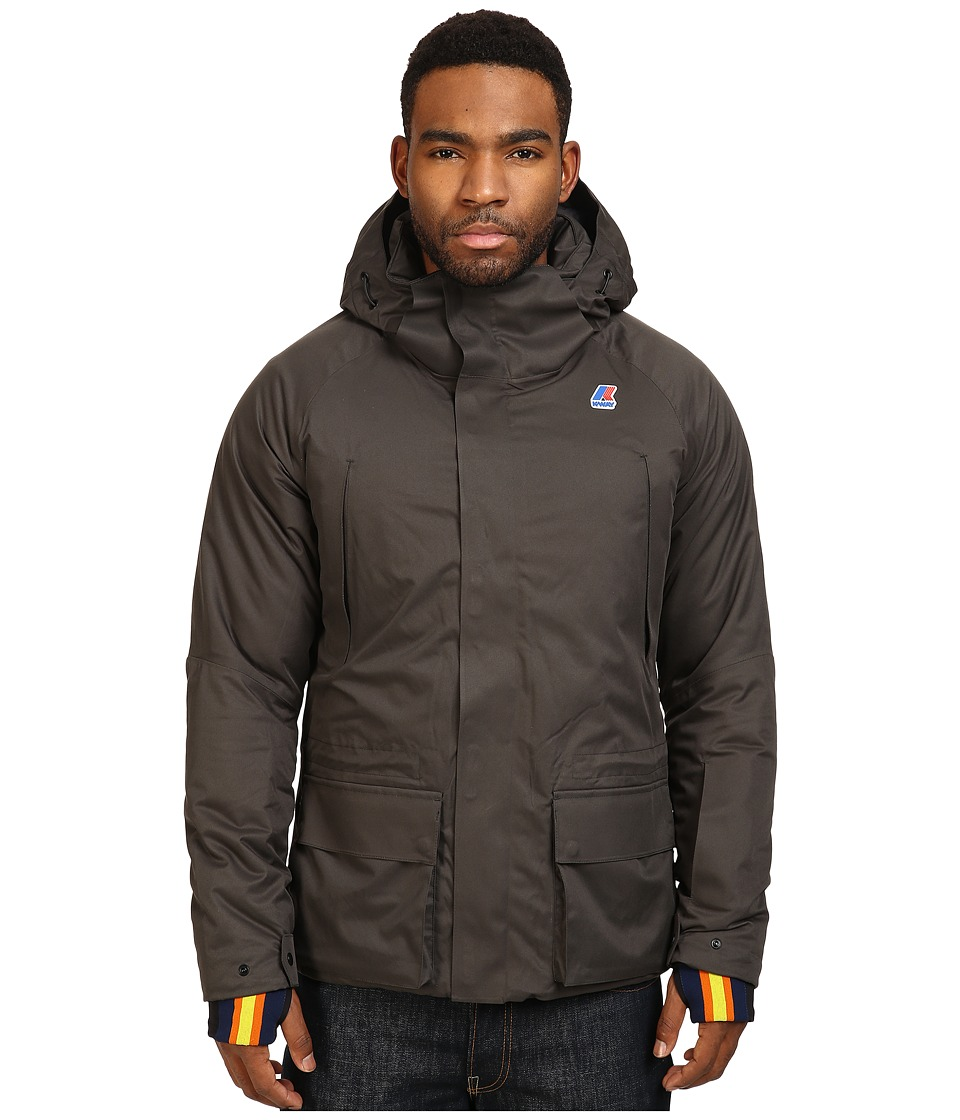 K-WAY - Gastone Micro Twill Jacket (Black/Torba) Men's Coat