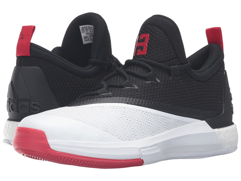 adidas - Crazylight Boost 2.5 Low (Black/Scarlet/White) Men's Shoes